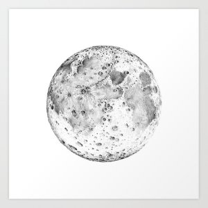 moon drawing pencil drawings paintingvalley society6