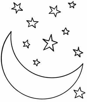moon easy drawing drawings paintingvalley