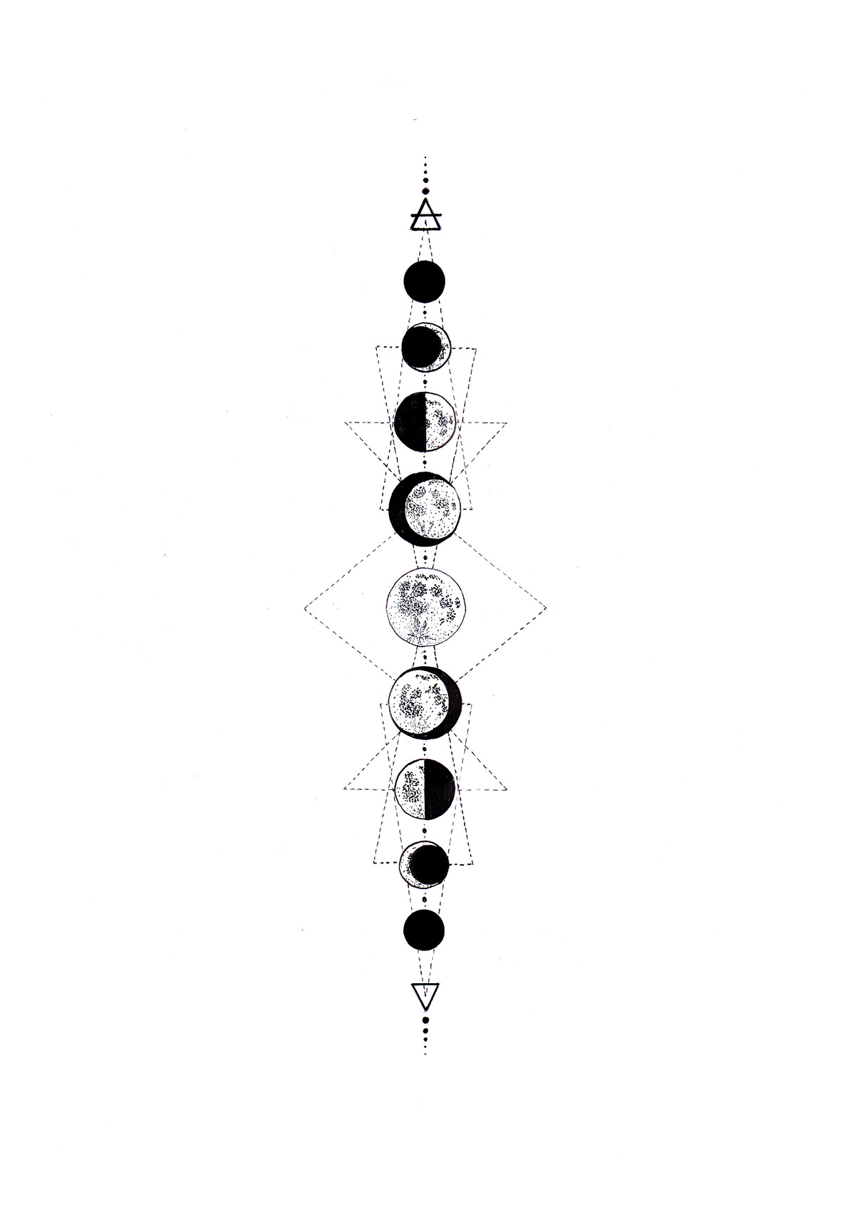 Moon Phases Drawing At Paintingvalley