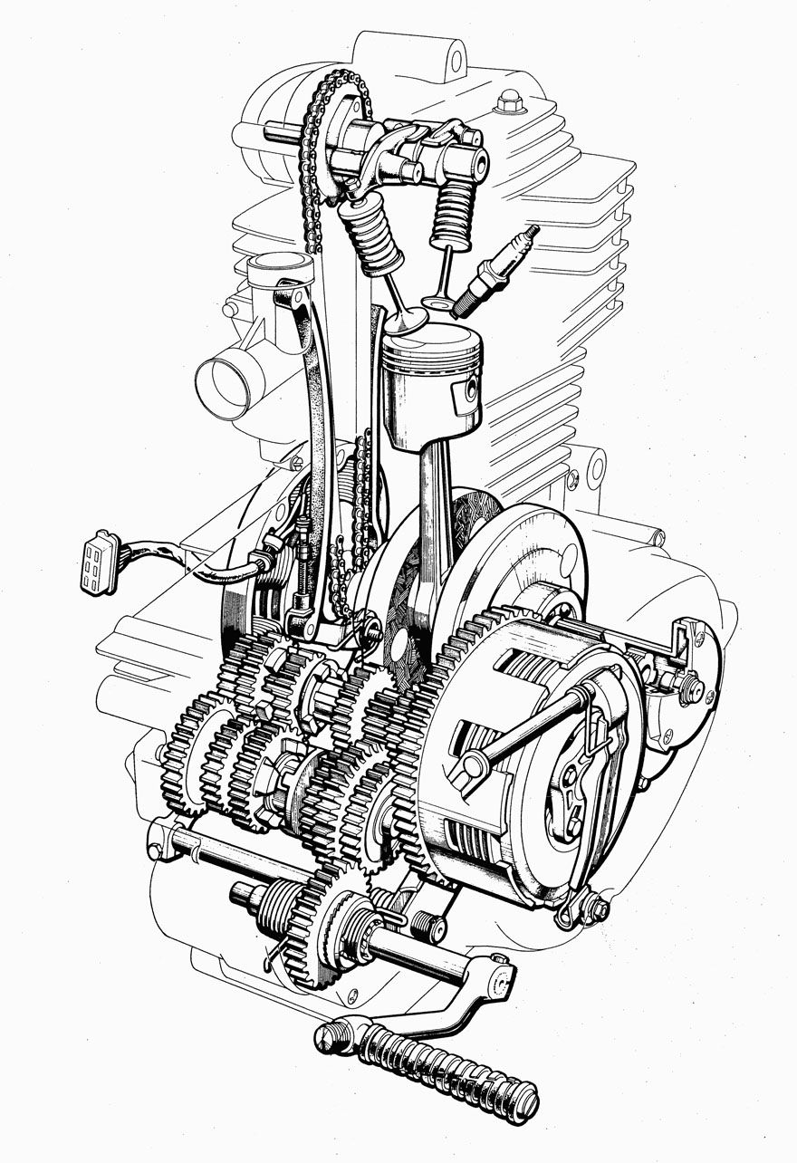 medium resolution of 880x1284 cutaway drawing motorcycle engine for free download motorcycle engine drawing