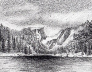 mountains drawing mountain landscape draw drawings simple trees easy landscapes sketch step craftsy perspective steps paintingvalley graphite realistic quick tricks