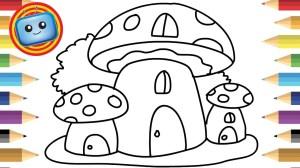 mushroom drawing simple coloring easy drawings colouring draw books cardi games step cartoon animation anim line printable slavyanka beginner kindergarten