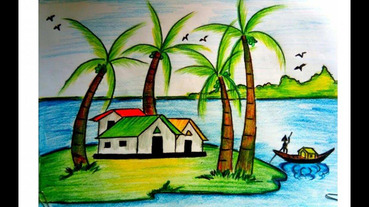 Children Landscape Drawing Contoh Soal Dan Materi Pelajaran 1