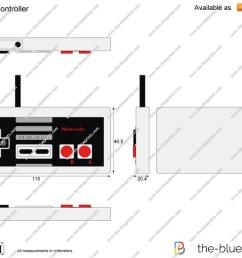 1280x905 nintendo nes controller vector drawing nes controller drawing [ 1280 x 905 Pixel ]