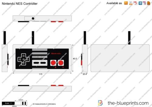 small resolution of 1280x905 nintendo nes controller vector drawing nes controller drawing