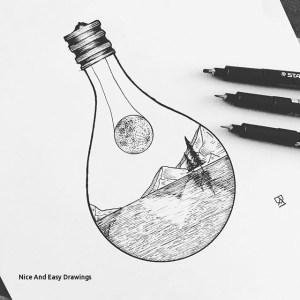 nice drawings easy paintingvalley