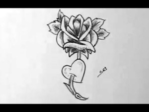 rose nice easy pretty drawings draw drawing flower simple flowers roses paintingvalley dra tutorial