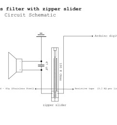 1754x1240 low pass filter with zipper slider details hackaday io open zipper drawing [ 1754 x 1240 Pixel ]