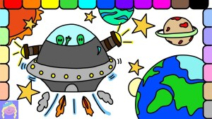 space outer drawing easy draw drawings ufo learn paintingvalley