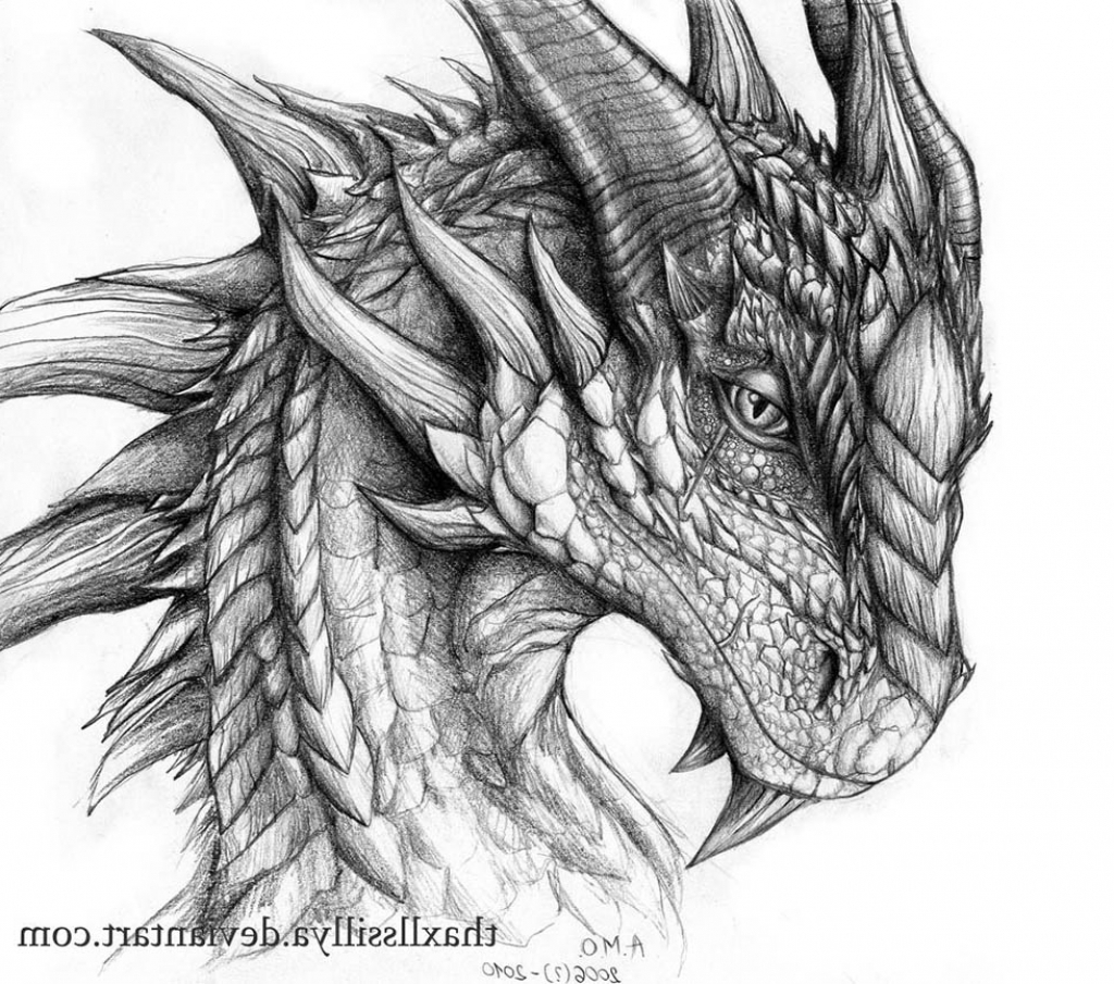Pencil Drawing Of A Dragon at PaintingValley.com   Explore ...