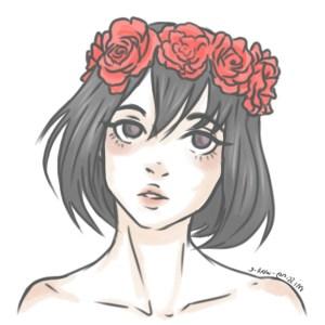 drawing anime cartoon sketch hipster sad crown flower teenage drawings draw sketches pencil getdrawings wallpapers drawn boys paintingvalley