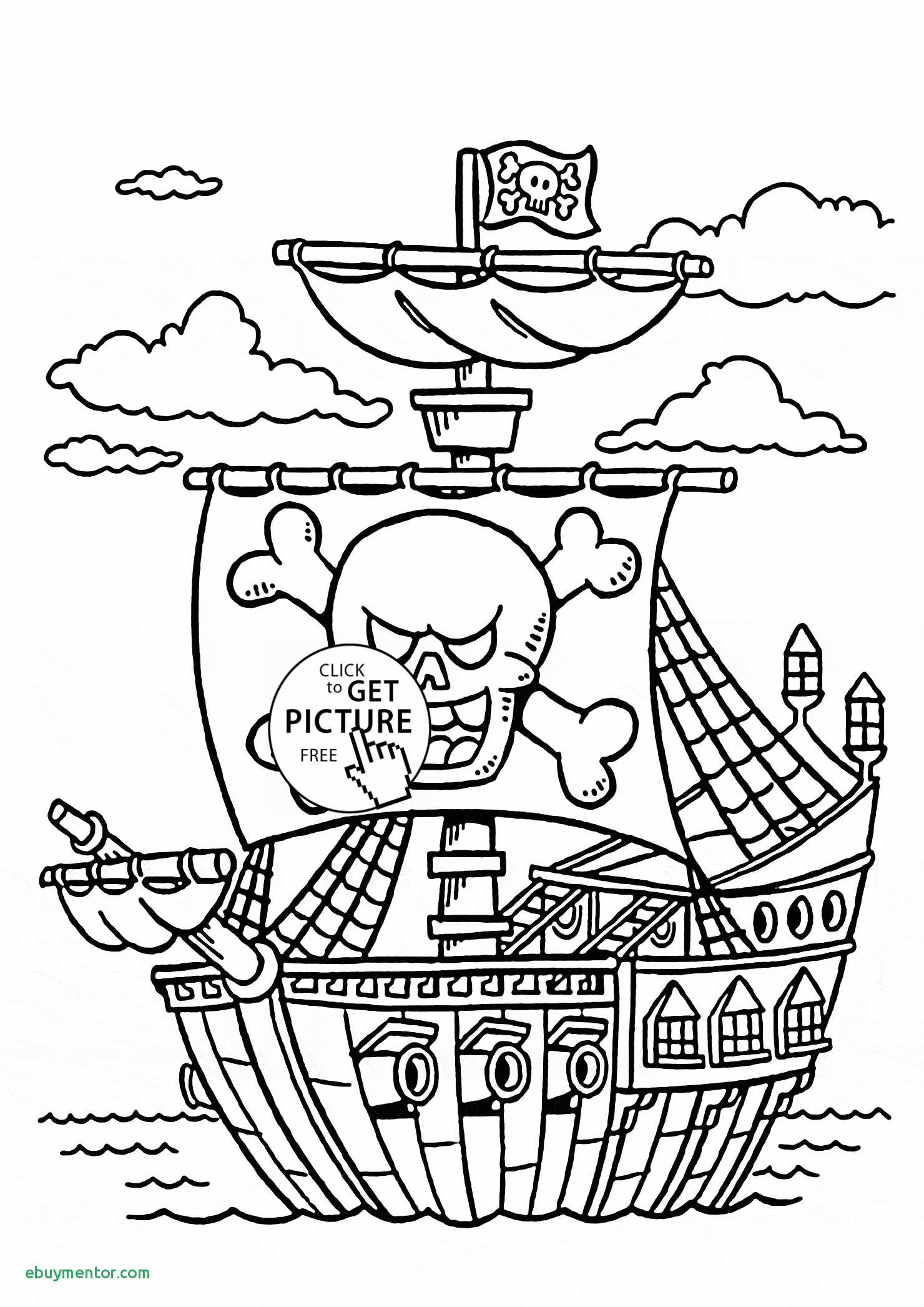 Pirate Ship Drawing For Kids At Paintingvalley