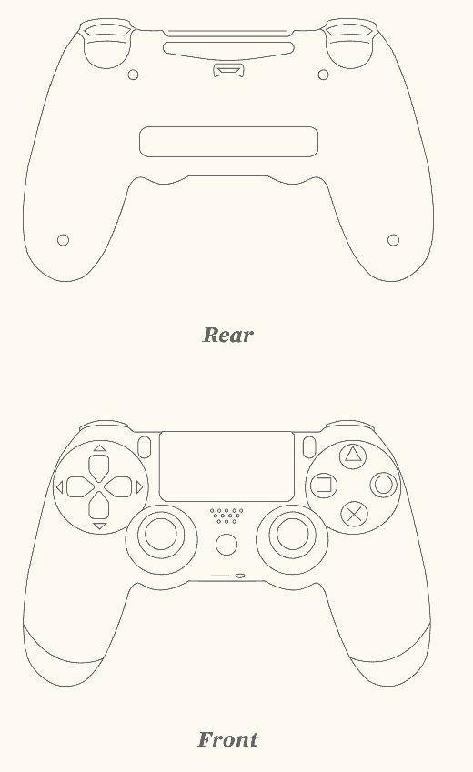 Playstation Controller Drawing at PaintingValley.com