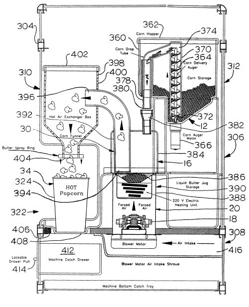 small resolution of 2613x3226 patent popcorn machine drawing