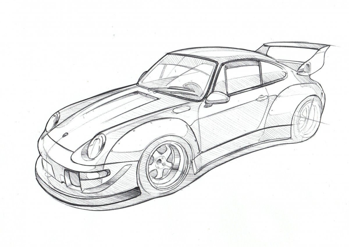 Porsche Line Drawing At Paintingvalley
