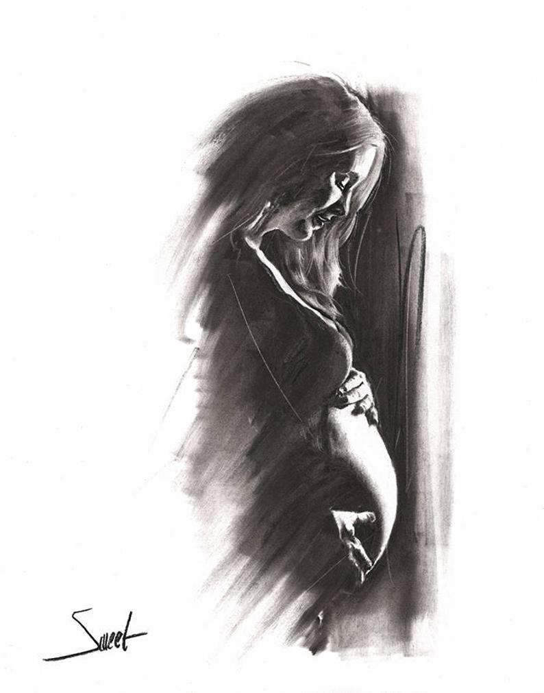 hight resolution of 794x1011 pregnancy gift pregnancy art pregnancy artwork pregnant etsy pregnant woman drawing