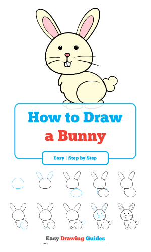 easy drawing drawings rabbit bunny draw steps cartoon step easter sketches few animals animal sketching tutorial easydrawingguides learn instructions doodle