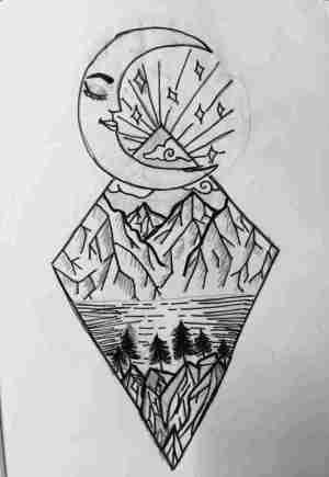 random drawing drawings cool easy sketches paintingvalley