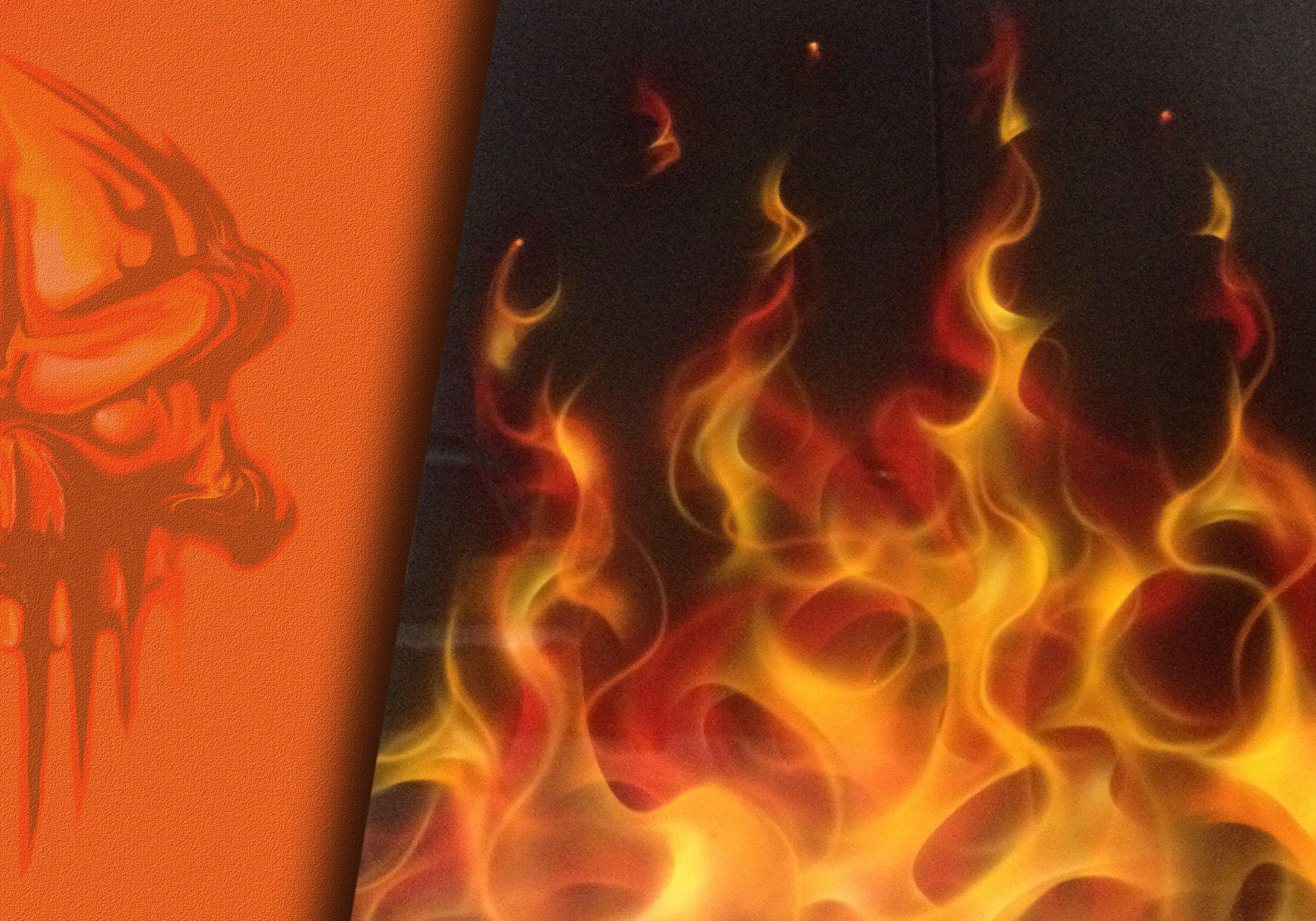 realistic fire drawing at
