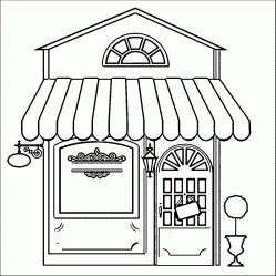 coloring restaurant drawing pages building easy restaurants colouring classic drawings bank wecoloringpage printable tall sheets library getdrawings