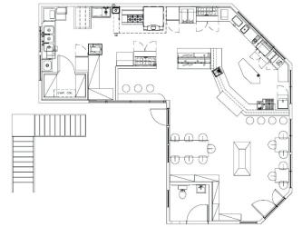 restaurant kitchen drawing layout commercial easy layouts drawings designs kitchens shaped paintingvalley explore showyourvote