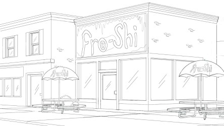drawing restaurant easy exterior drawings diner paintingvalley rucker