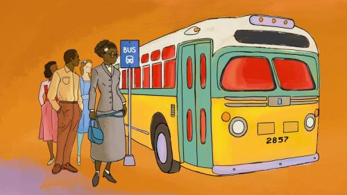 small resolution of 1200x675 rosa parks rosa parks bus drawing