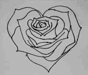 heart drawing rose drawings roses hearts easy draw designs graffiti pencil cool simple cliparts tattoo attempt beginners banners outlines outline