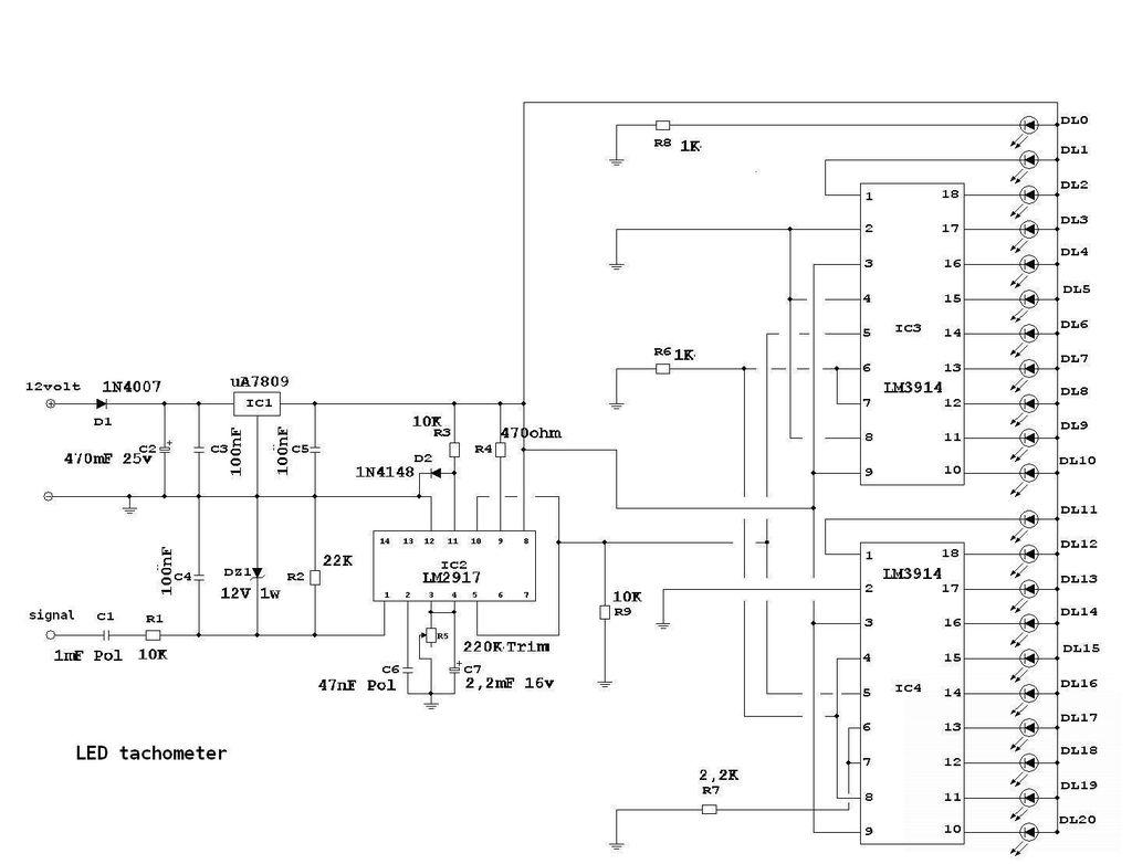 hight resolution of 1024x782 diy led tachomter rpm gauge drawing