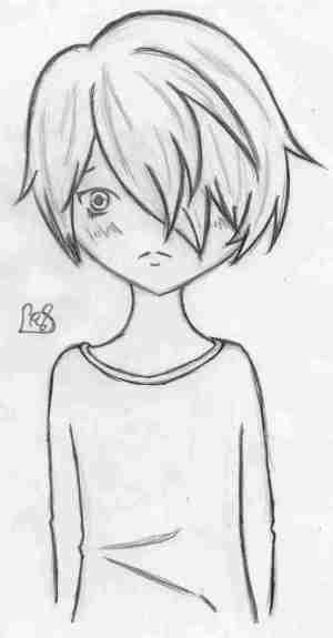 anime boy drawings drawing simple easy sad beginners step sketch draw paintingvalley steps boys pencil sketches explore