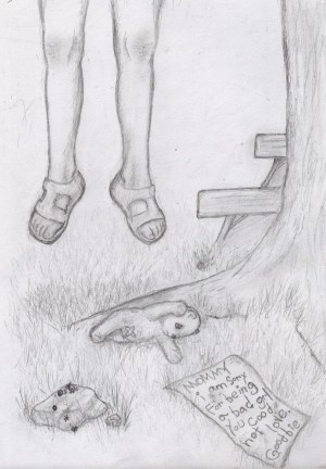 child broken sad drawings easy depressing cry drawing suicide disturbing