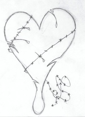 sad drawings pencil drawing easy simple emo heart getdrawings sketches sketch broken hearts human paintingvalley