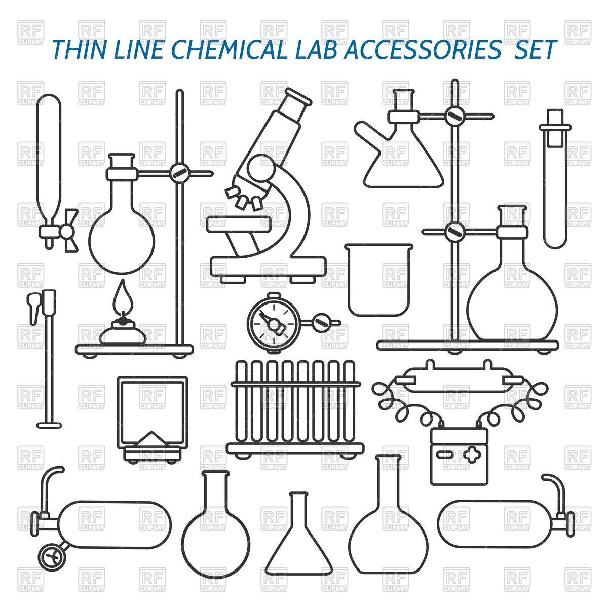 Science Equipment Drawings At Paintingvalley