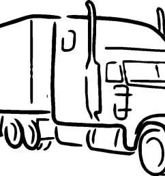 1440x728 semi truck clipart truck big semi truck line drawing [ 1440 x 728 Pixel ]