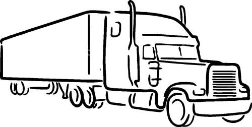 small resolution of 1440x728 semi truck clipart truck big semi truck line drawing