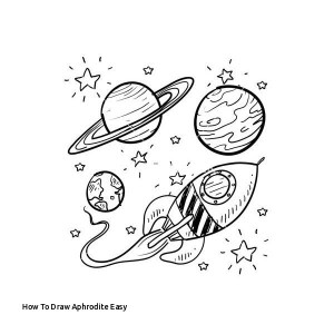 easy drawing ship draw space drawings planets paintingvalley aphrodite