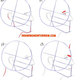 1628x3636 how to draw male hair easy how to draw a face from the side  [ 1628 x 3636 Pixel ]