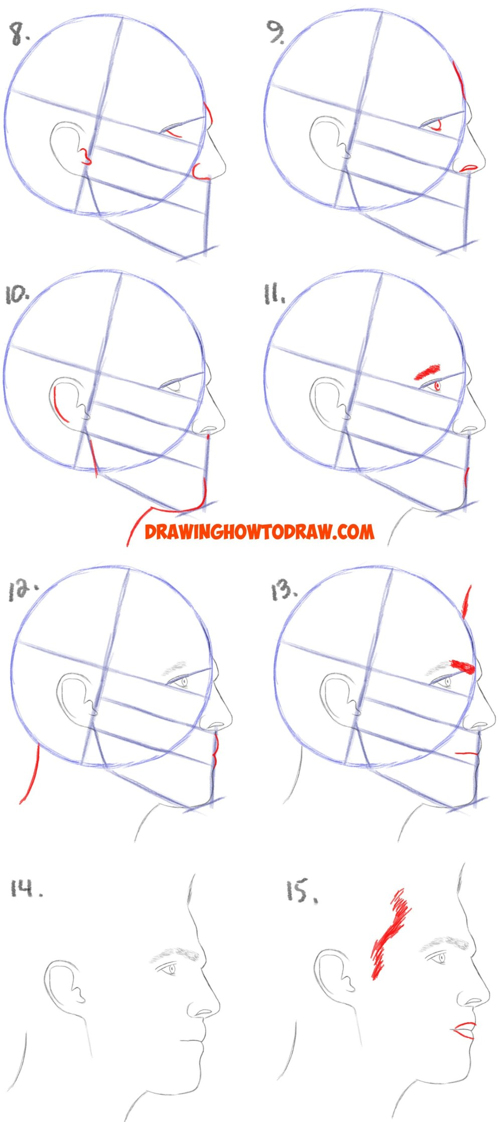 medium resolution of 1628x3636 how to draw male hair easy how to draw a face from the side