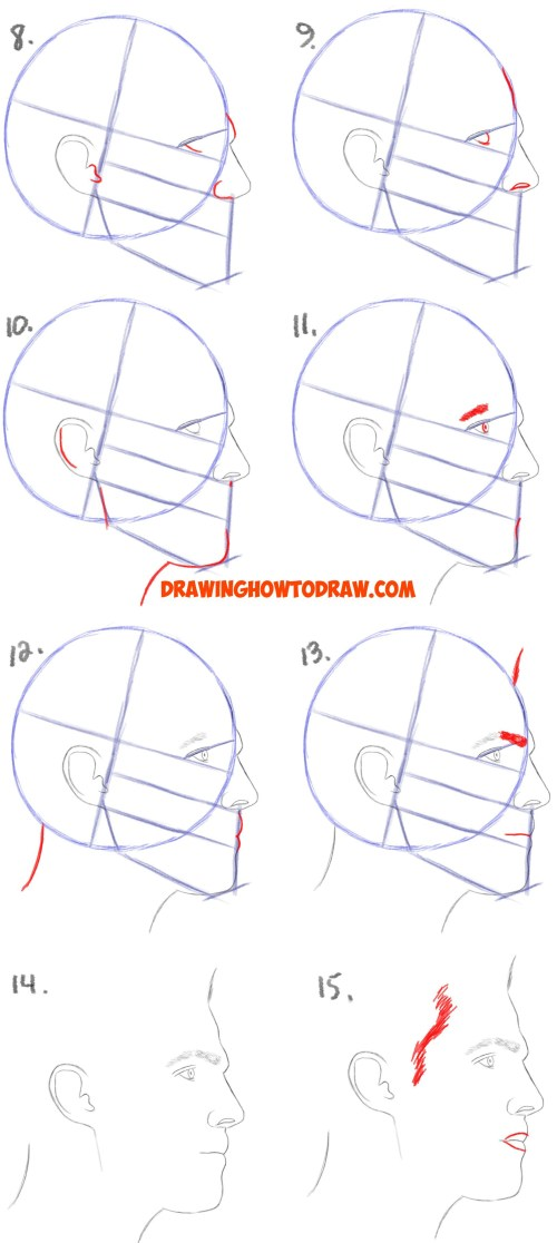 small resolution of 1628x3636 how to draw male hair easy how to draw a face from the side