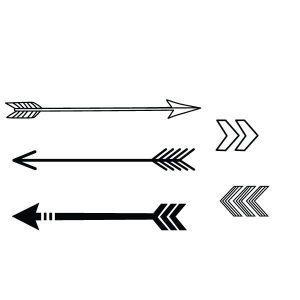 arrow tattoo indian simple arrows drawing outline clipart geometric designs temporary tattoos order drawings request hand tribal custom paintingvalley something