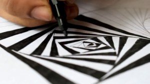simple draw drawings optical cool illusion paintingvalley