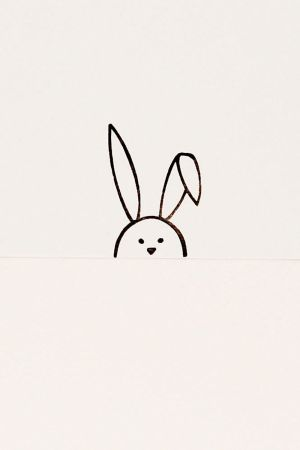 bunny face drawing simple stamp rabbit drawings easter floppy dibujos gift minimalist birthday paintingvalley animal primitive eared doodle visitar verkocht