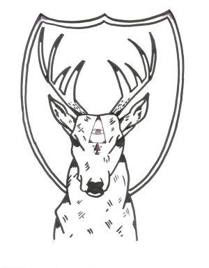 deer head drawing simple easy face drawings getdrawings deviantart paintingvalley