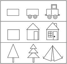 shapes drawing simple using geometric draw 3d toddlers drawings kindergarten coloring preschool skills learn wall paintingvalley pre writing