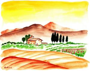 nature drawings simple easy drawing shade draw landscape paintingvalley land painting creative explore author