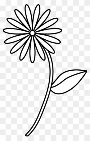 flower line simple drawing drawings easy clip coloring clipart cartoon paintingvalley clipground pikpng