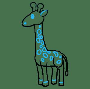 Simple Drawings Giraffe