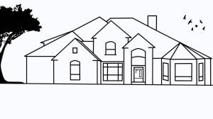 drawing simple drawings houses easy basic paintingvalley draw step