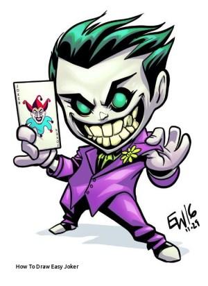 joker drawing simple easy draw drawings cartoon paintingvalley jok