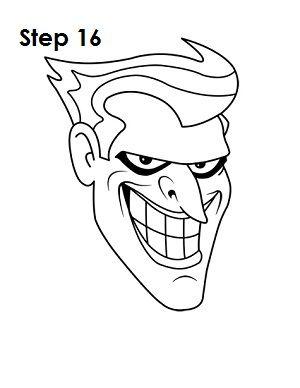 joker drawing simple drawings draw batman paintingvalley